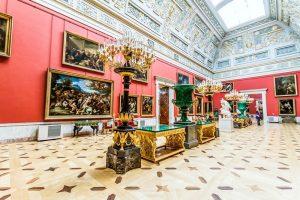 Salah satu ruangan di Museum Hermitage