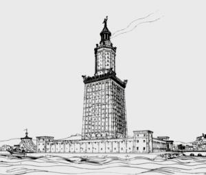 Mercusuar Besar Pharos di Aleksandria